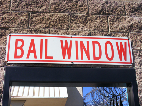 Bail Window Sign - City of Las Vegas Jail