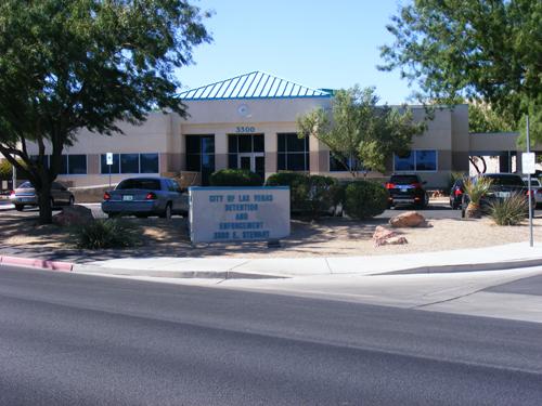 Front view of City of Las Vegas Jail Detention and Enforcement Center